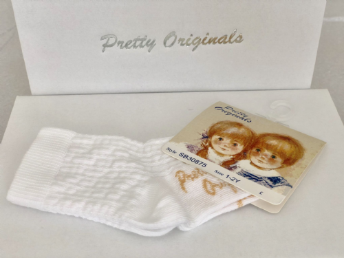 Pretty Originals White Ankle Socks